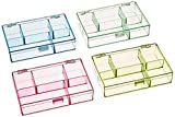 Darice 1156-73 3-1/2-Inch by 4-1/2-Inch by 1-Inch Neon Plastic Organizer, Set of 4