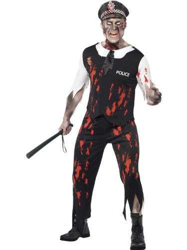 Zombie Police Costume Womens (Smiffys Men's Zombie Policeman Costume)