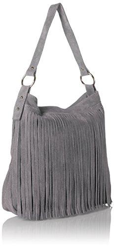 Bags4Less Mujer Tipi Bolso de bandolera, 20x35x38 cm gris oscuro