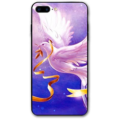 Xianjing iPhone 7 Plus Case/iPhone 8 Plus Case Dove Peace Love Anti-Scratch PC Rubber Cover Lightweight Slim Printed Protective Case ()