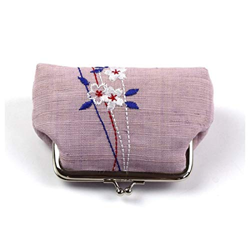 brodé d'argent clés Ramie Tissu Iudrfgsd monnaie Porte Pink Porte Sac 6IqwE8O