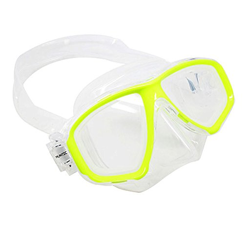 Scuba Choice Yellow Dive Mask NEARSIGHTED Prescription RX Optical Lenses (Different Each Eye) by Scuba Choice