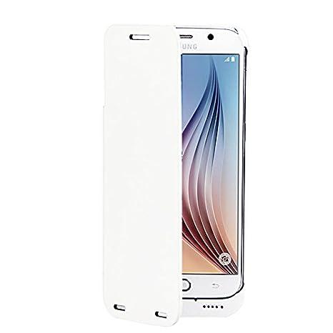 dizauL® 2 en 1 4200mAh Batería Externa Recargable con Funda de Cuero para Samsung Galaxy S6 Battery Charger Case with Stand Batería Integrada con ...