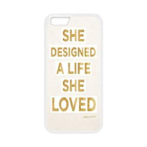 Yearinspace Downton Abbey Quotes She Designed A Life She Loved Case For iPhone 6 Plus Non Slip, Iphone 6plus Case Cute Cheap For Boys With White