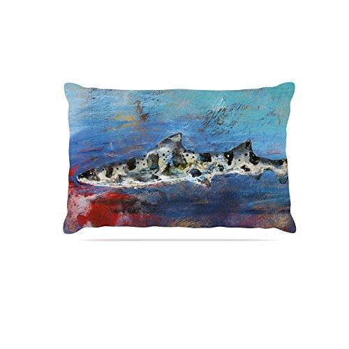 Kess InHouse Josh Serafin Sea Leopard  Fleece Dog Bed, 50 by 60 , bluee Shark
