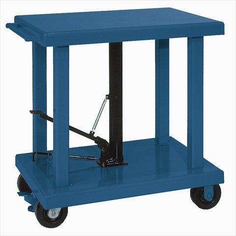 (Wesco Industrial Products 260065 Steel Medium-Duty Lift Table, 2,000 lb. Capacity, 48