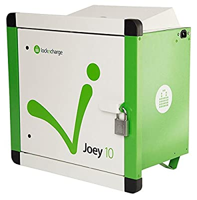 LocknCharge 10001 Joey 10 Charging Station, Green/White