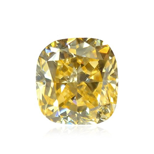 Si2 Cushion Loose Diamond (0.52 Carat Fancy Intense Orange Yellow Loose Diamond Natural Color Cushion GIA)