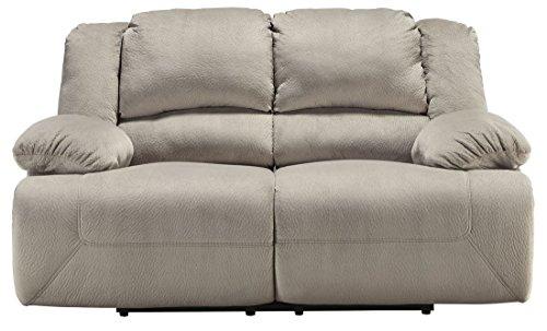 Ashley Furniture Signature Design - Toletta Loveseat Recliner - Manual Pull Tab Reclining - Contemporary - Granite