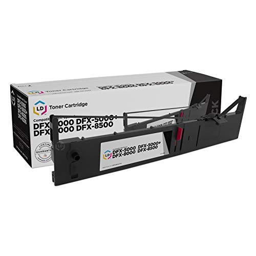 LD Compatible Printer Ribbon Cartridge Replacement for Epson 8766 -