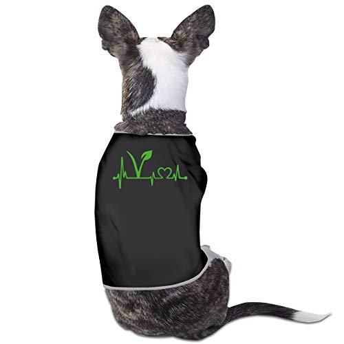 LNUO-2 Pet T-Shirt, Vegan Vegetarian Heartbeat Dog Cat Shirt Clothes Vest ()