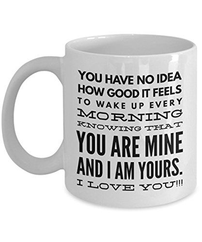 Couples Coffee Mug - You Are Mine I Love You - Novelty Gift, Cool Present Idea for Birthday For Him or Her, Men, Women, Lovers ,11OZ
