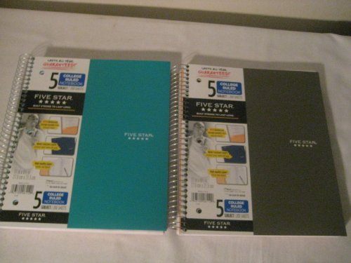 043100061120 - MEA06112 Trend Notebooks, Perforated, 5-Subject, 200/Sht, Assorted Colors carousel main 2