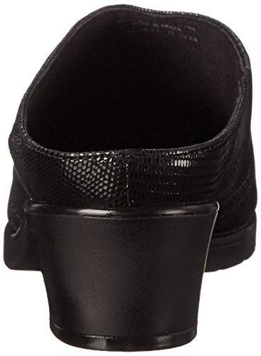 Gående Vaggor Kvinna Caden Mule Ny Svart Ödla Patent Print Läder