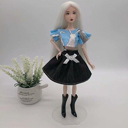 Rose Tissu Poupe Poupe pour Baoblaze Bleu Barbie Jupe Tops pour en Vtement et RnwqPO0
