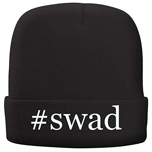 BH Cool Designs #swad - Adult Hashtag Comfortable Fleece Lined Beanie, Black