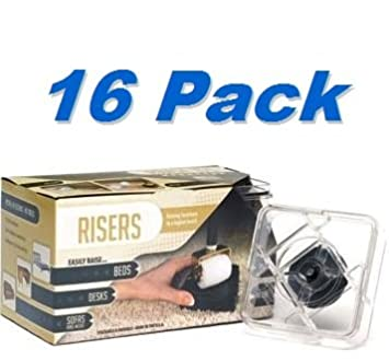 Raise Its   Clear Furniture Risers (8 Pack)   Set Of Two 8