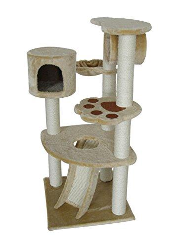 Kitty Ramp Scratching (IRIS 5-Tier Cat Tree Condo, Kitty Paws Playground)
