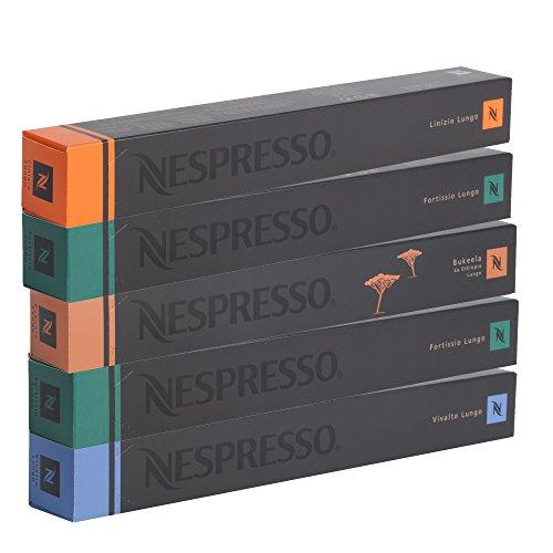 Nespresso Kapseln Lungo - ALLE LUNGO SORTEN IN EINEM SET - Vivalto Linizio Fortissio Bukeela Lungo - NEU & LIMITED