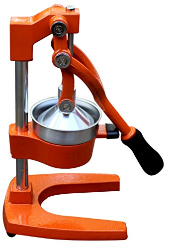 Royal Brands Manual Citrus Juicer Commercial Grade Cast Iron (Stainless Steel) Strainer and Squeezer for Lemons Oranges Grapefruit - Steel Crusher Manual Stainless