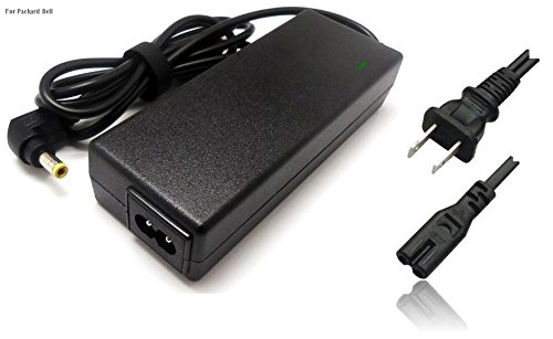 B007 Series (Universal PSU AC Adapter Charger + power cord: for 18.5v, 19v, 19.5v, 20v, 40W, 45W, 60W, 65W, 90W Packard Bell laptop, netbook, notebook, tablet [BUTTERFLY, EASY NOTE, NOTE ] USABELL27)