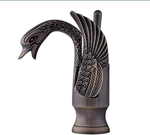 SYF-SYF タップヨーロッパの新しいアートリトルスワン種類以上カウンター盆地アンティークファッション銅シングル白鳥の蛇口の水 蛇口