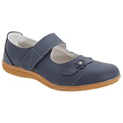 Boulevard Womens/Ladies Touch Fastening Extra Wide Summer Cas .