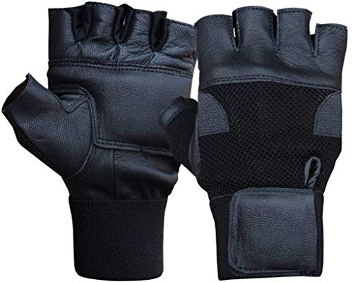 Dryon Leather Fitness/Gym Gloves with Wrist Support (Black_Wrist Support) Price & Reviews