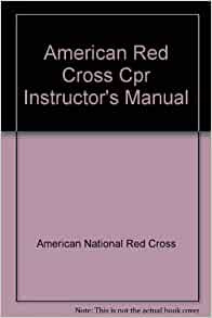 red cross cpr instructor manual
