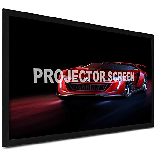 VEVOR Projector Screen 130inch Outdoor Projector Screen 16:9 Movie Screen Fixed Frame 3D Projector Screen for 4K HDTV Movie Theater