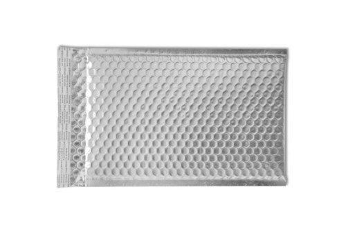 Silver Matte Pull Metallic - (6 1/2 x 10 1/2) - LUX Matte Metallic Bubble Mailers - Silver (100 Qty.)