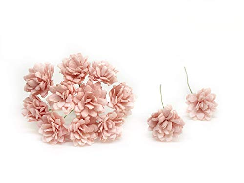 2cm Light Pink Blush Paper Flowers Baby's Breath Artificial Flowers Fake Flowers Paper Craft Flowers Mulberry Paper Flowers, 50 Pieces from Savvi Jewels