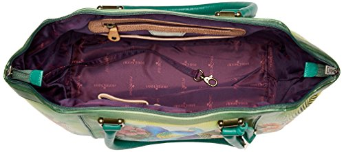 Anuschka Hand Painted Leather Large Wide Satchel, Passionate Peacocks by ANUSCHKA (Image #5)