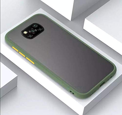 A Rtistque Smoke Translucent Shock Proof Smooth Rubberized Matte Hard Back Cover For Poco X3 -Green - Green 2021 July Design: New Color Button Design and this stand-alone button is detachable. Protection: High-grade polycarbonate and TPU materials , soft siders and corners create enhanced security during drops and falls; case is 0.7mm higher than Phone Heavy Duty : PC Matte Backbaord, Anti Fingerprint, Good Feel - Enhances the look of your smartphone while guarding against scratches and other damage