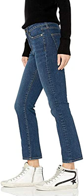 Amazon-Marke: Goodthreads Damska Mid-Rise Slim Straight Jeans: Odzież