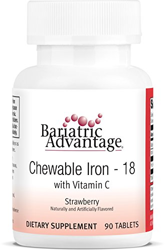 Bariatric Advantage - Chewable Iron 18mg - Strawberry, 90 Count ()