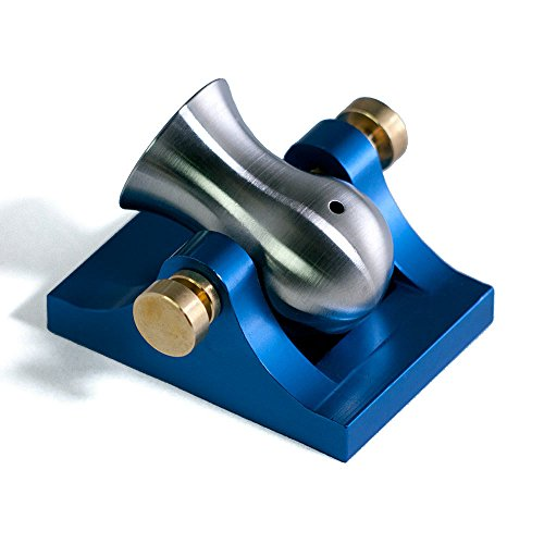 Mini Desktop Cannon Pocket Artillery - Blue w/ Brass Hardware
