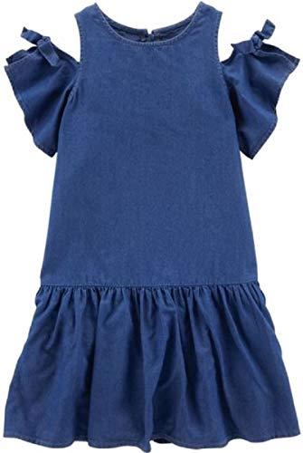 Carter's Cold Shoulder Denim Dress, Size 6/6X