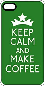 MMZ DIY PHONE CASEKeep Calm & Make Coffee with Crown White Plastic Case for Apple iphone 6 4.7 inch