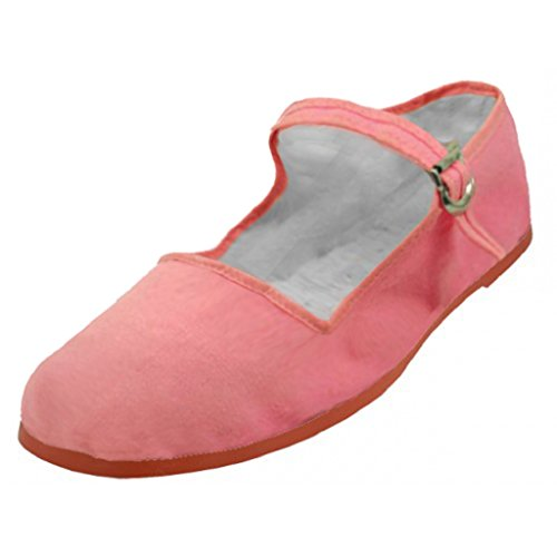 Pink Doll Shoes - Shoes 18 Womens Cotton China Doll Mary Jane Shoes Ballerina Ballet Flats Shoes 114 Pink 10