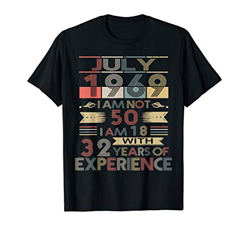 Born in July,1969 Vintage Birthday Gifts T-Shirt