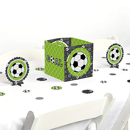 Big Dot of Happiness Goaaal - Soccer - Baby Shower or Birthday Party Centerpiece and Table Decoration Kit]()