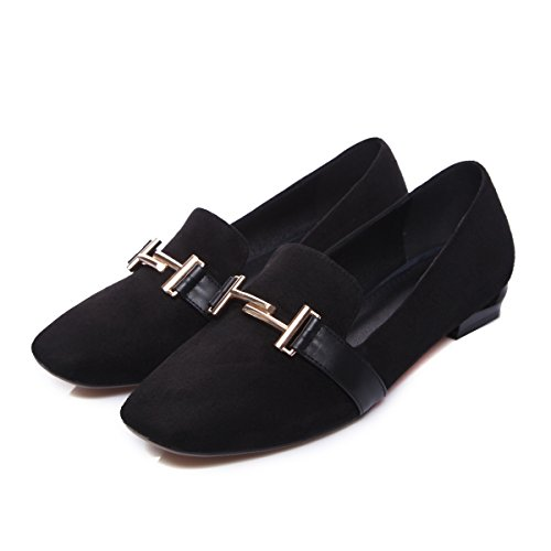 Show Shine Womens Fashion Slip On Casual Mocassini Scarpe Nere