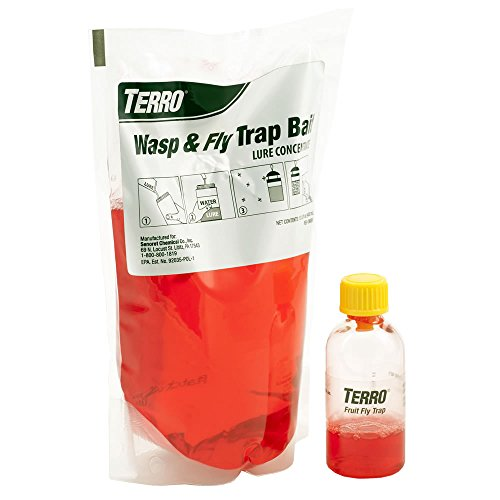 Terro t515 Terror Wasp & Fly Trap Plus Fruit Fly – Refill, Red by Terro