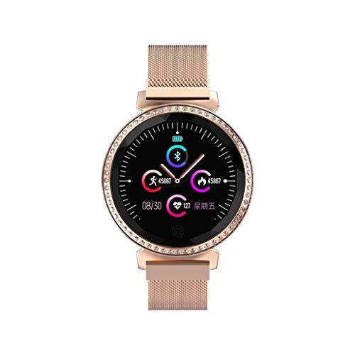 (Clearance Sale!DEESEE(TM)MC11 Luxury Women Heart Rate Blood Pressure Sleep Monitoring Smart Watch Bracelet (Rose Gold))