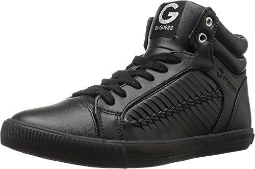 G Par Devinez Femmes Olisa Hight Haut Lacets De Mode Sneakers Noir Nappa Pu