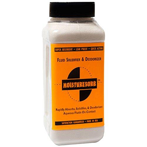 Absorbent Granules - MOISTURESORB Superabsorbent Fluid Solidifier & Smell Remover Granules: 2 lb.