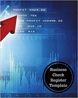 business check register template insignia accounts 9781538052617