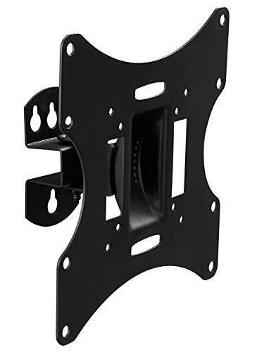 "Mount-It! MI-4501L TV Wall Mount Bracket for 17"" - 42"" LCD, LED, Plasma, 4K, 3D TV Screens, Swivels and Tilts, 66 Lbs Capacity, Black"