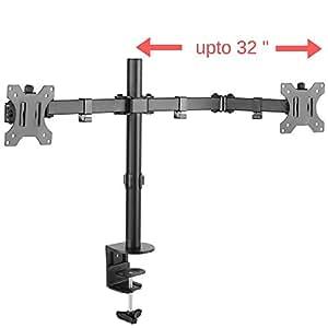 Primount 32 Inch Articulating Dual Monitor Vesa Stand